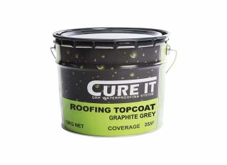 Cure It GRP Roofing Topcoat Graphite Grey 10kg