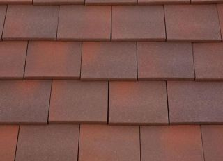 Marley Clay Single Camber Plain Tile Heather Blend