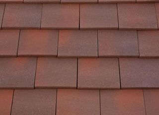 Marley Clay Single Camber Tile & Half Heather Blend
