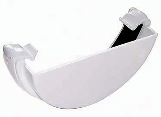 Floplast RE1 External Stopend White 112mm