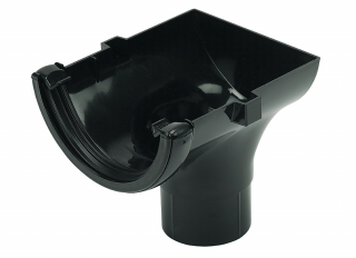 Floplast RO2 Stopend Outlet Black 112mm