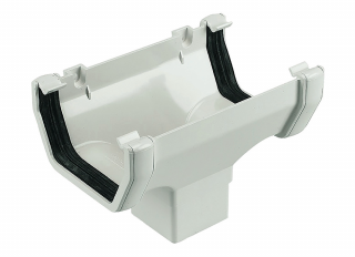 Floplast ROS1 Square Running Outlet White 114mm