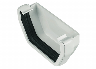 Floplast ROS2 Square External Stopend White 114mmx