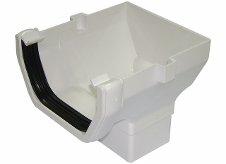 Floplast ROS2 Square Stopend Outlet White 114mm